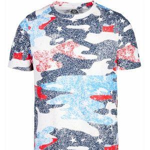 NWT American Rag men's RW&B Camouflage T-Shirt. L